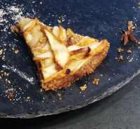 Slice of Pear Pie with Brown Butter Crust