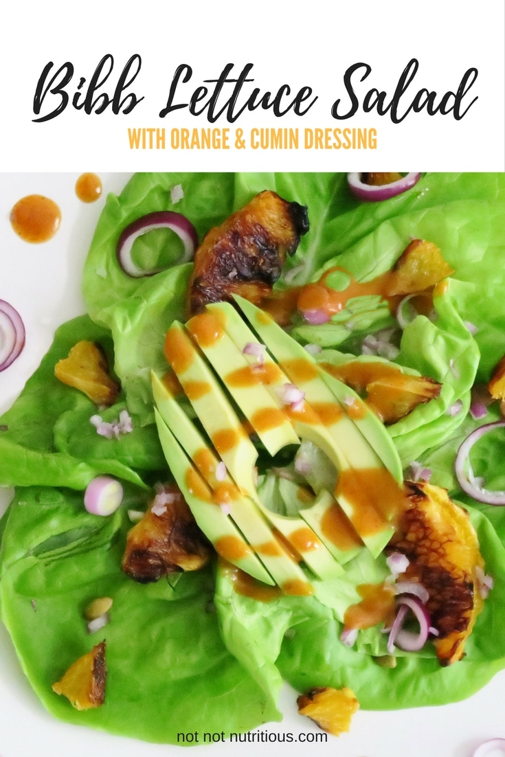Bibb Lettuce Salad with Orange and Cumin Dressing