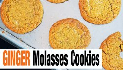 Ginger Molasses Cookies {High + Low Sugar Options}