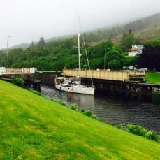 Swing bridge at Gairlochy