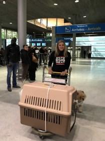 Felicity at Paris airport