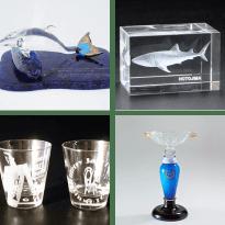 ガラス製の記念品、ご贈答品