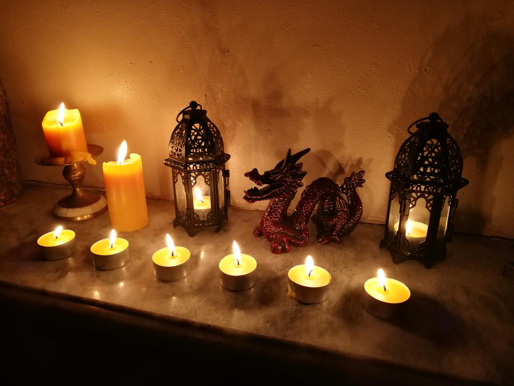 Hand poured beeswax candles and tealights