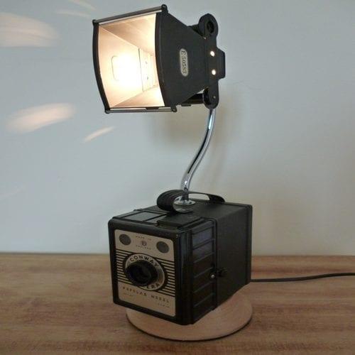 Box Brownie Camera Lamp