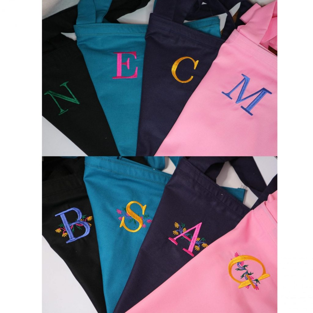 Personalised Embroidered Heavy Cotton Tote Bags