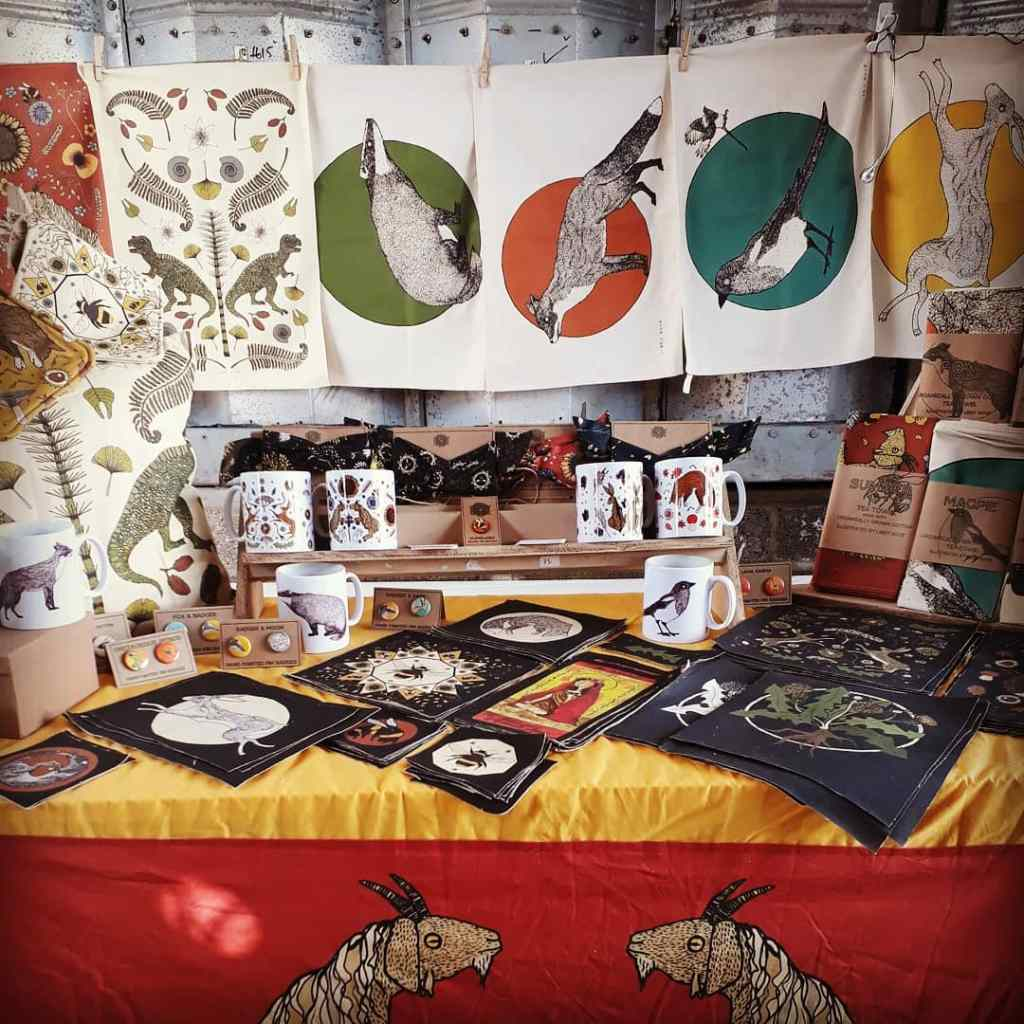 My Market stall, showing my 'woodland creatures' collection