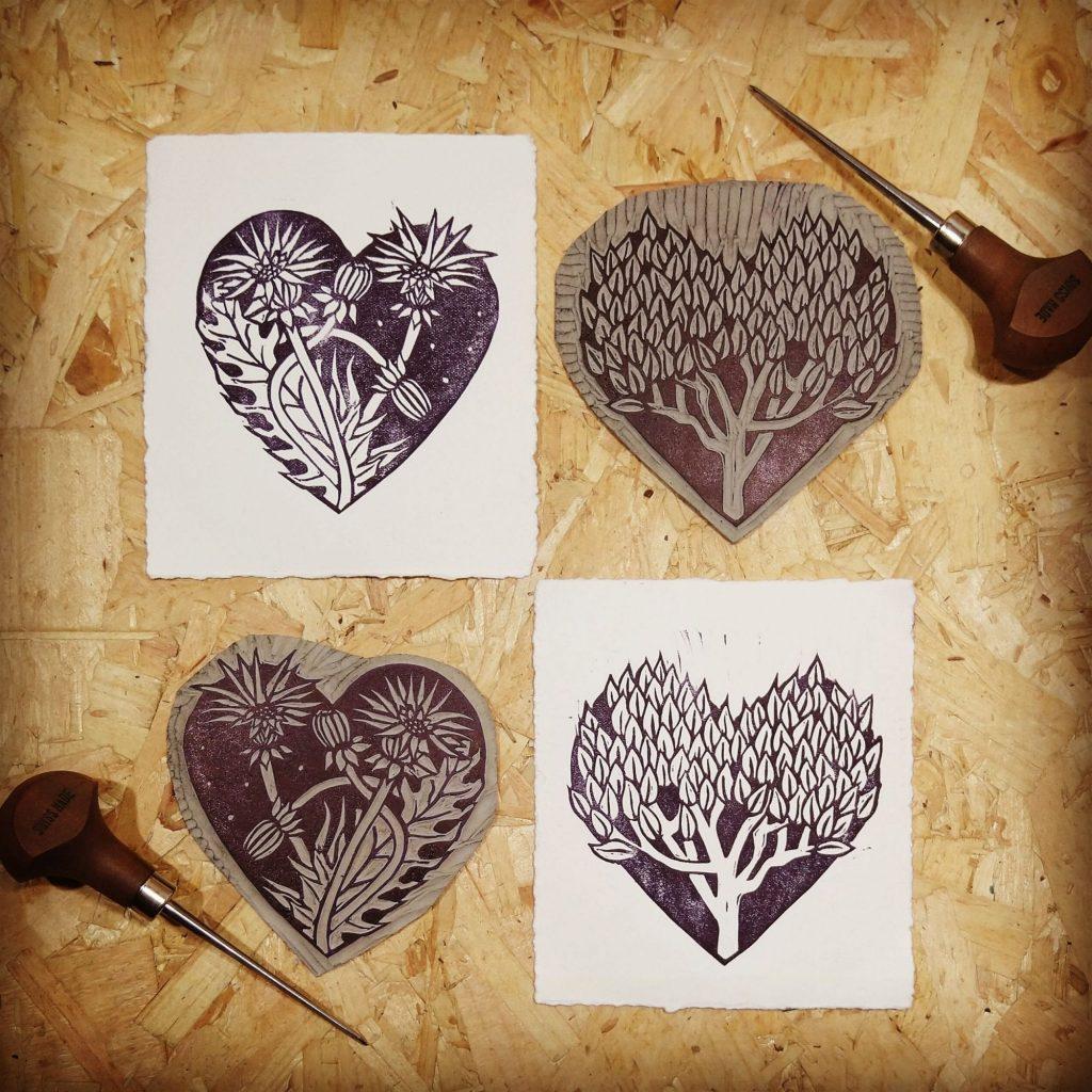 Aubrey Beardsley Inspired Hearts