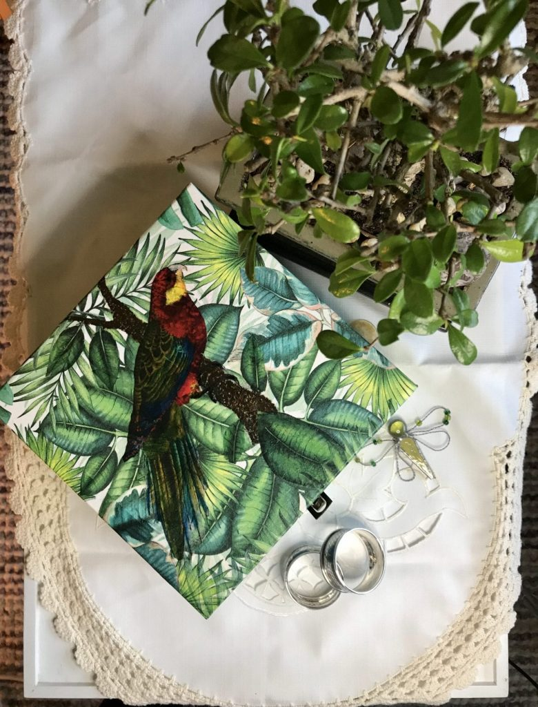 Decoupage paper wooden box: Tropical Collection