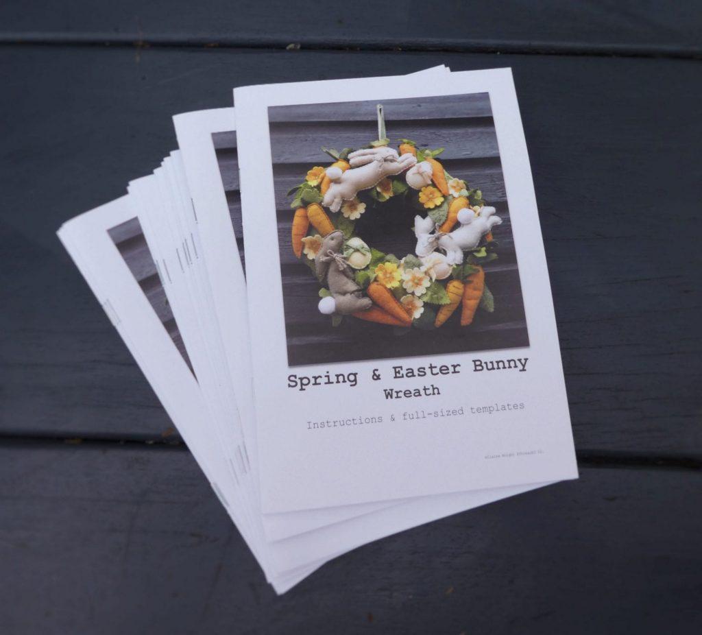Spring & Easter Bunny Felt Wreath Pattern & Instruction Booklet