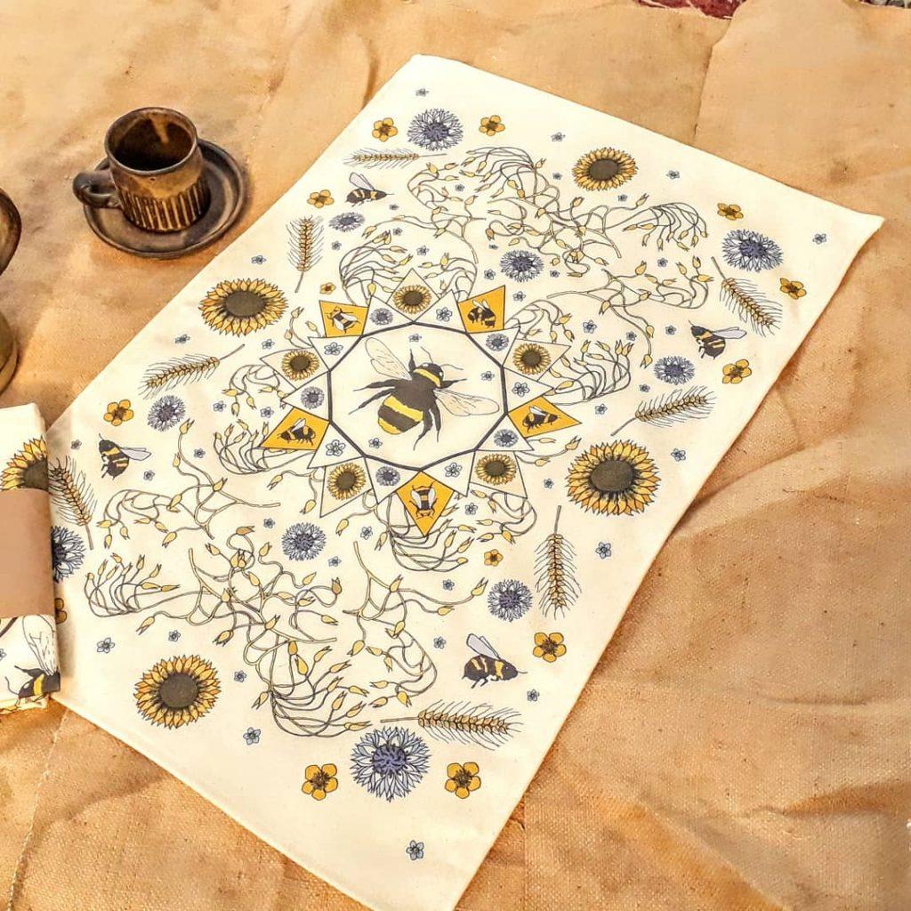 'The Polinator' tea towel