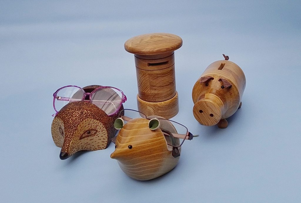 Spectacle holders & money boxes