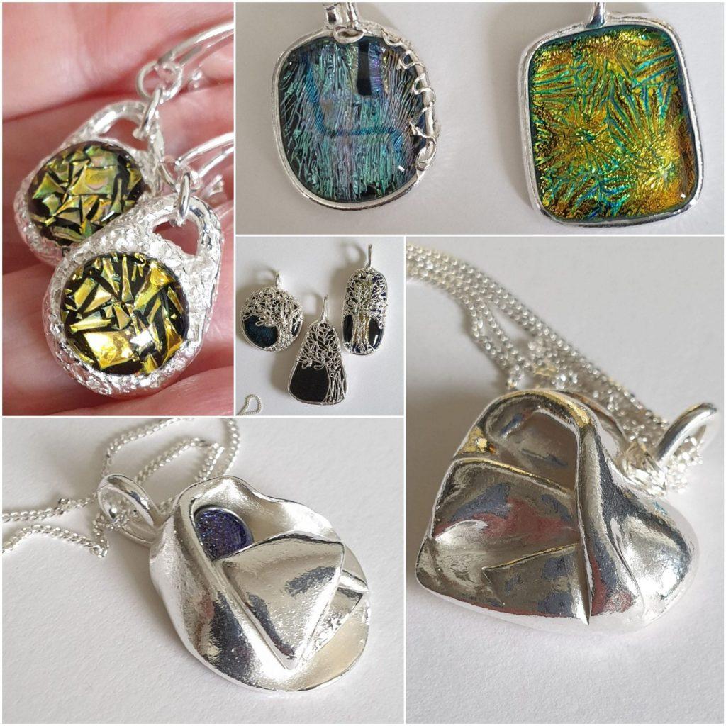 Silver & glass jewellery