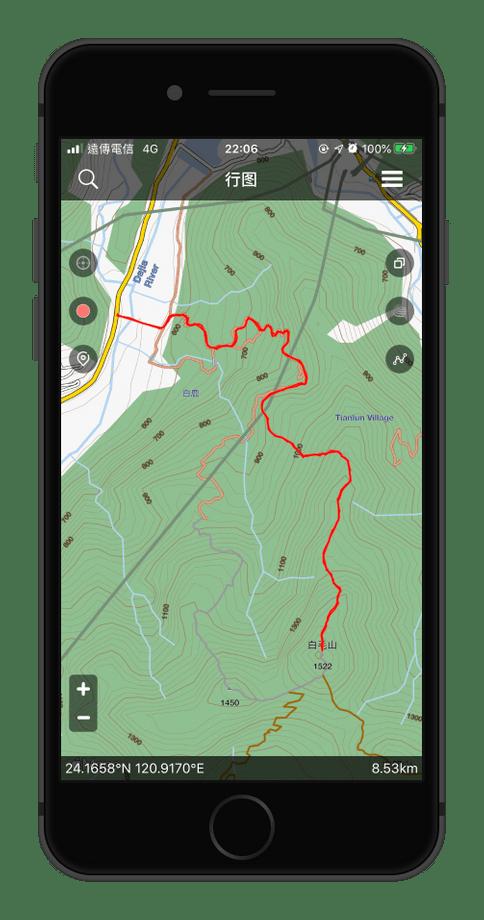 行圖登山地圖