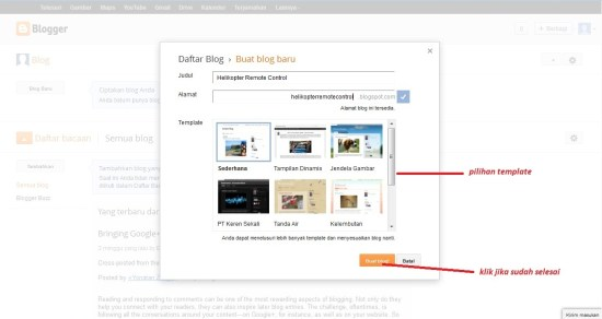 Buat Blog Blogger Menu Floating