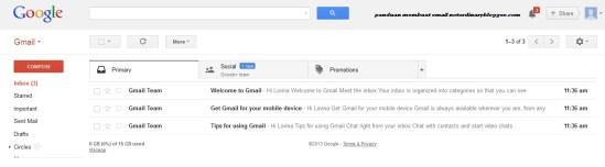 Dashboard Email Baru Gmail