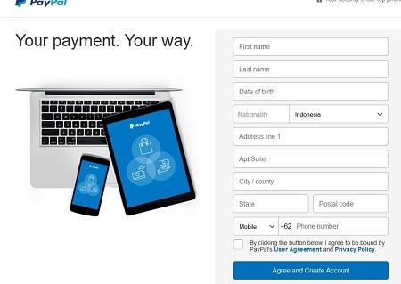 Cara Membuat Akun Paypal Informasi Detil Pengguna Akun
