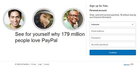 Cara Membuat Akun Paypal Informasi Pengguna Akun