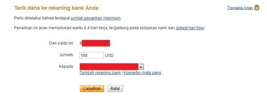 Cara Transfer Uang Paypal ke Rekening Bank di Indonesia 8