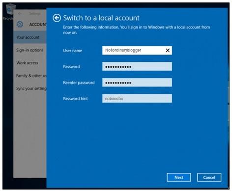 Cara Reset Password Windows 10 C