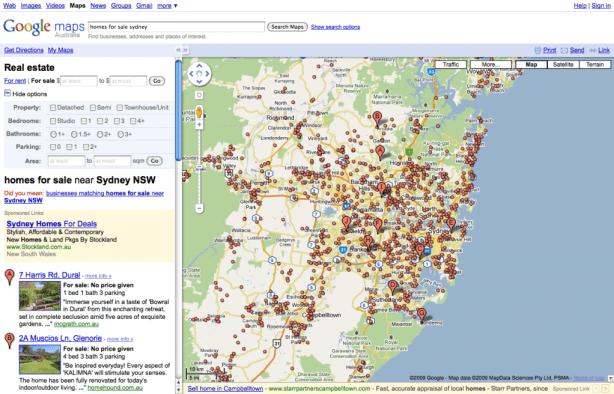 homes for sale sydney - Google Maps_1258773345057
