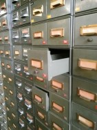 Rows of filing cabinets - I love the internet