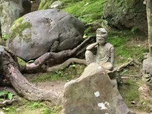 Garden goddess sculpture