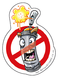 Angry spray can sticker