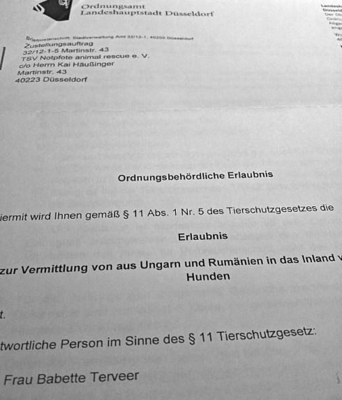 § 11, Abs. 1, Nr. 5 TierSchG