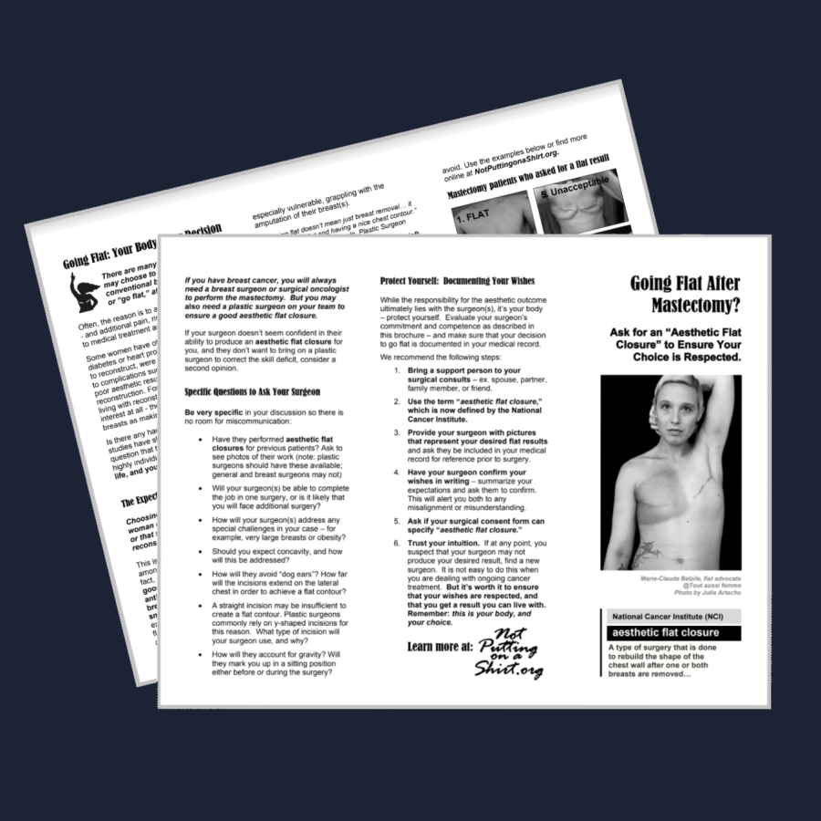 Aesthetic flat closure brochure going flat after mastectomy Protect Your Choice