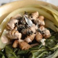 Chestnut gnocchi with a creamy wild mushroom sauce