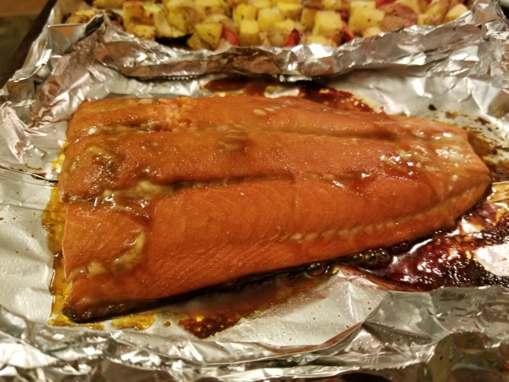Cooked salmon - Not Quite Super Mom