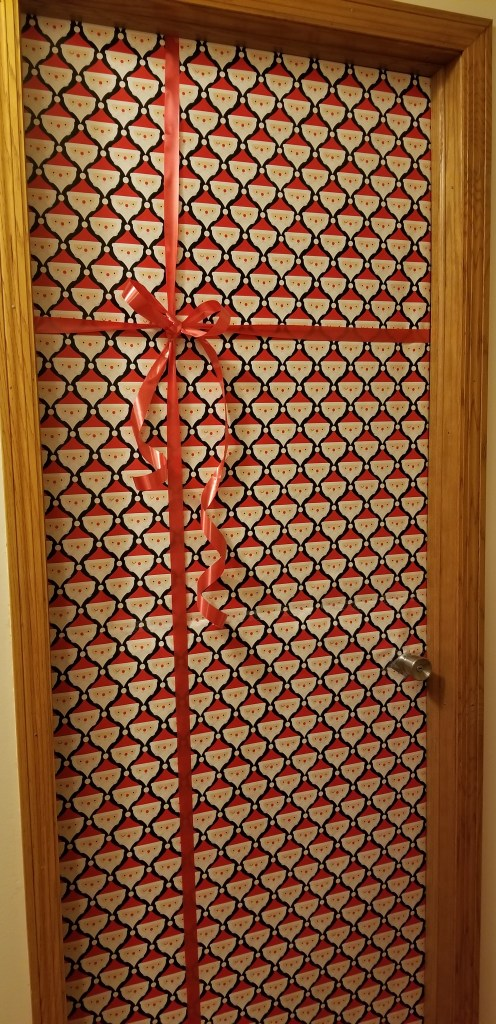 Door Decoration Contest - perfect inside activity to keep those kiddos happy when it's cold outside and they are off school www.pinterest.com/notquitesupermommn