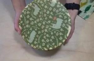 wax wrap on a bowl