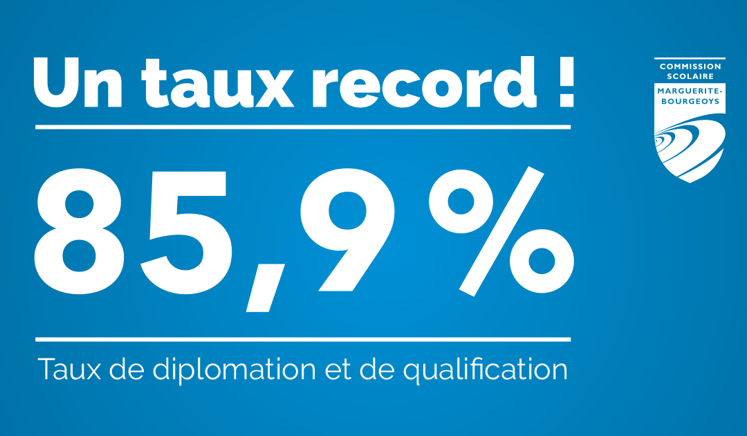 DIPLOMATION : LA CSMB ATTEINT UN TAUX RECORD DE 85,9 %