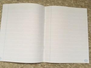 Cahier première année