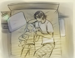 Shhh quiet dad time now