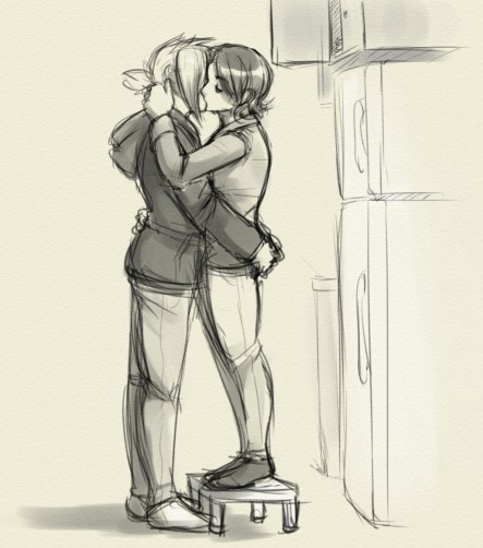 smoochtober day 13: Height difference kiss