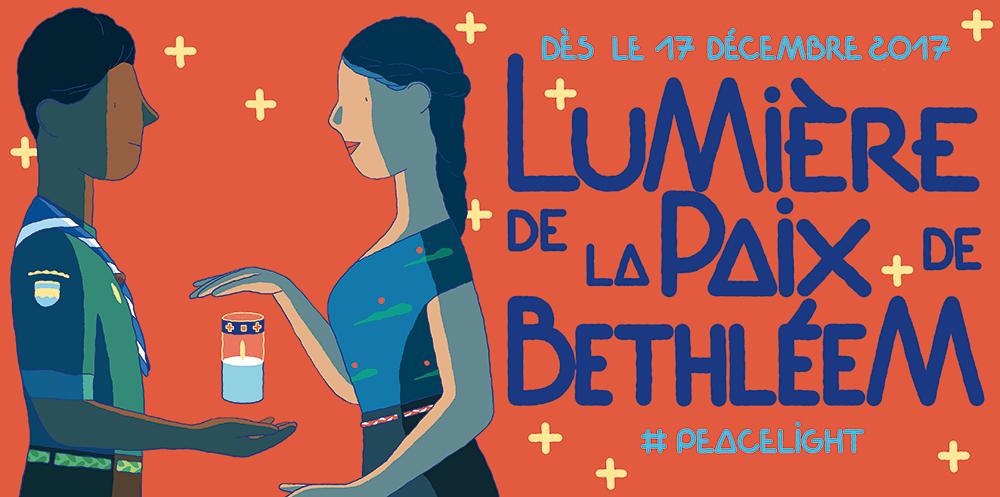 Les Scouts et Guides de France partagent la lumière de Bethléem le dimanche 17 décembre 2017