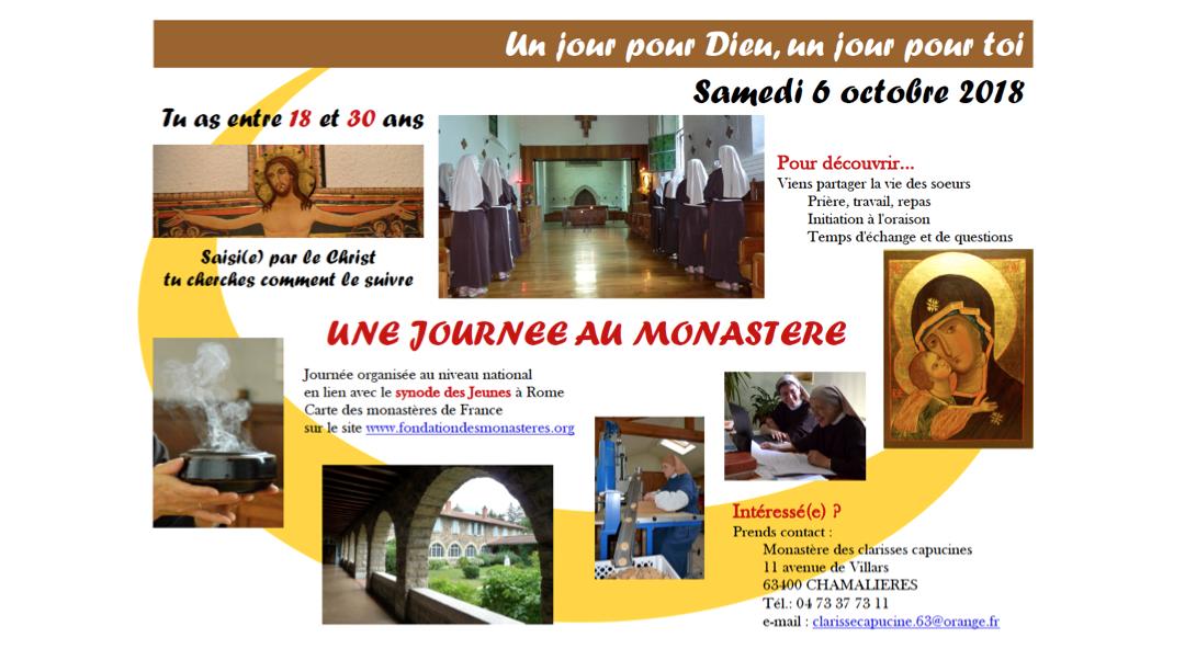 Le 6 octobre 2018 : une journée au monastère des Clarisses à Chamalières en lien avec le Synode des Jeunes à Rome