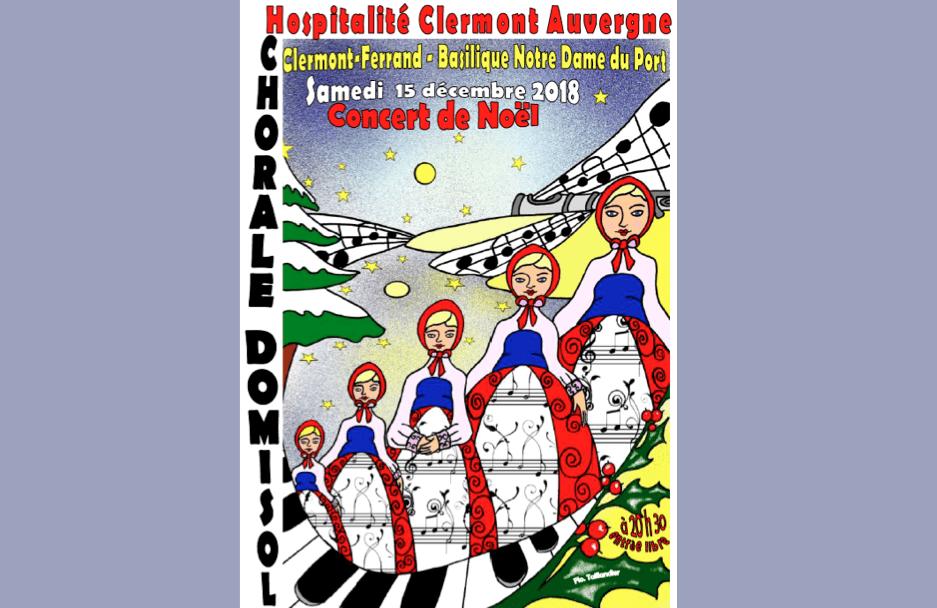 Concert de Noël le samedi 15 décembre 2018 à 20h30 à Notre-Dame du Port