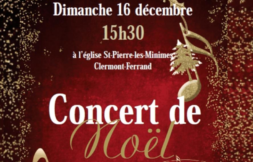 Concert de Noël le dimanche 16 décembre 2018 à 15h30 à Saint-Pierre-les-Minimes