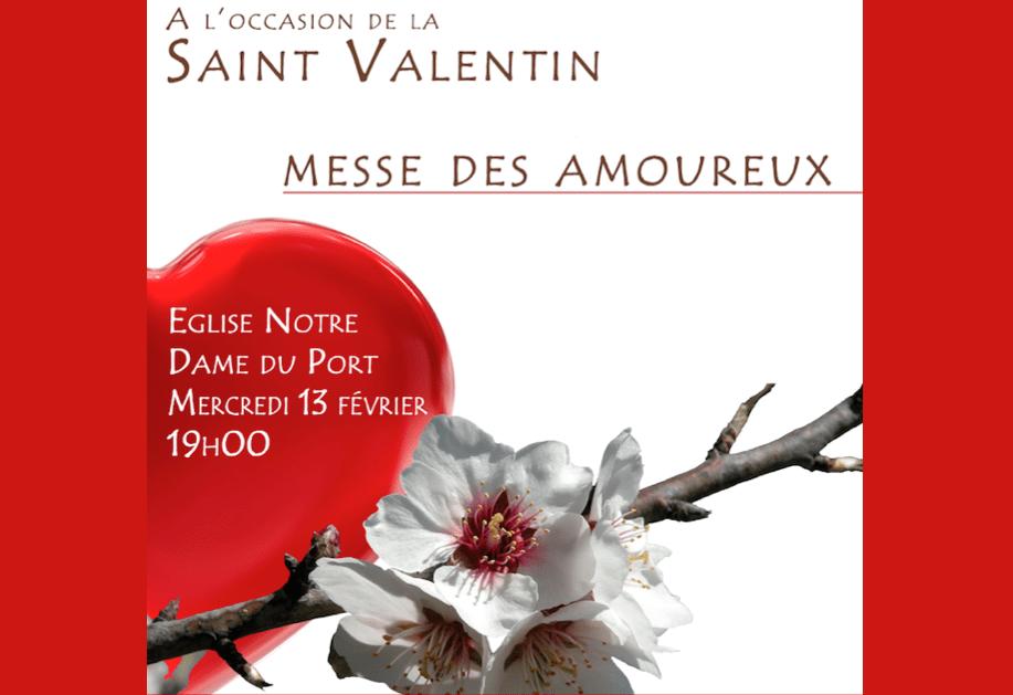 Messe des amoureux à Clermont-Ferrand à 19h le mercredi 13 février 2019, veille de la Saint-Valentin