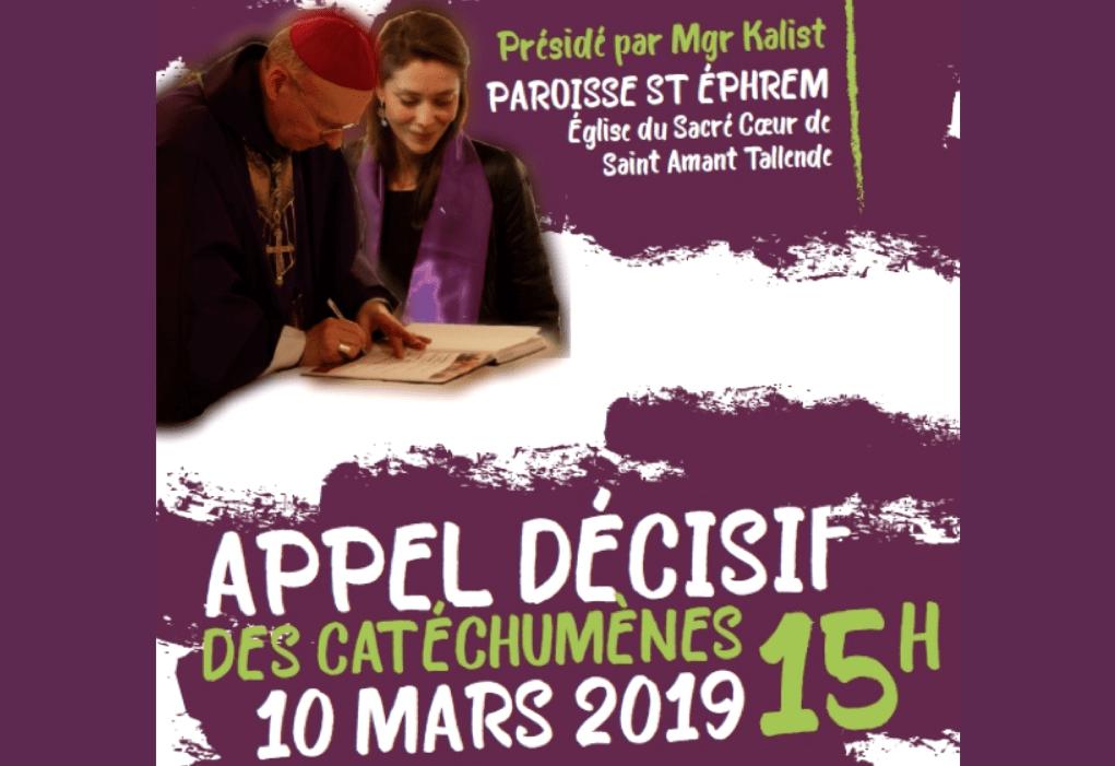 Dimanche 10 mars 2019 : « Appel décisif » de 31 catéchumènes dont 4 de Notre-Dame de Clermont
