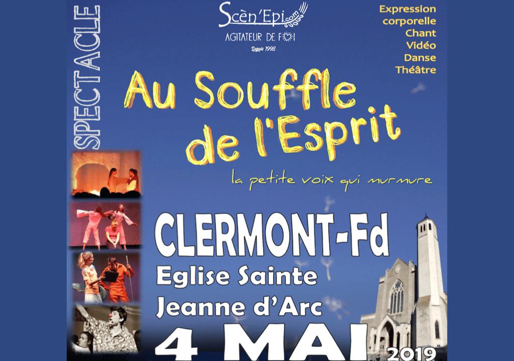Jeu scénique « Au souffle de l'Esprit » le 4 mai 2019 à 20h30 en l'église Sainte Jeanne d'arc