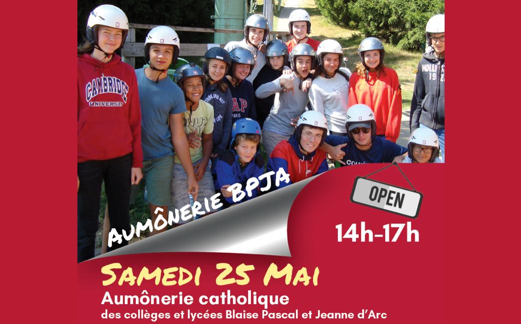 Portes ouvertes de l'Aumônerie Blaise Pascal – Jeanne d'Arc le 25 mai 2019 de 14 à 17h