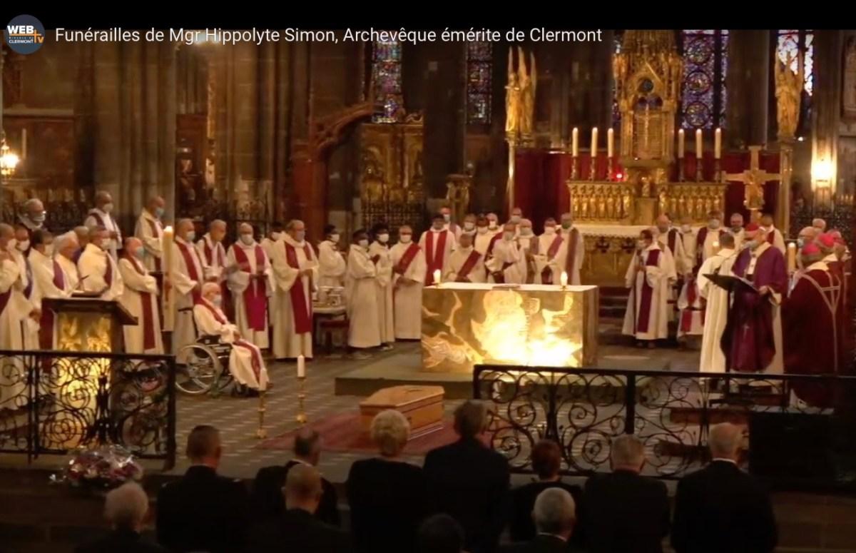 Funérailles de Mgr Hippolyte Simon, Archevêque émérite de Clermont : la vidéo de la célébration