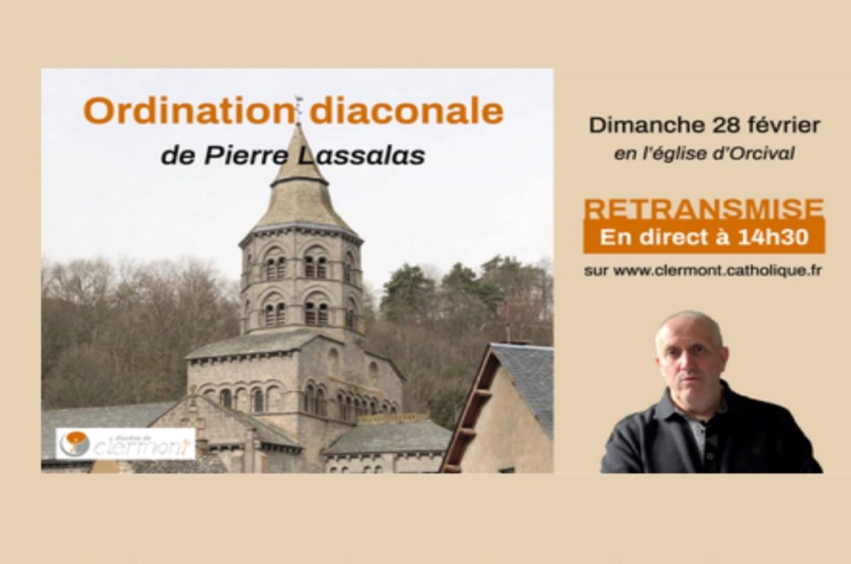 Ordination diaconale de Pierre Lassalas le 28 février 2021 à 14 h 30 en la basilique d'Orcival