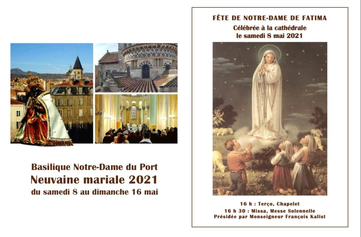 Neuvaine mariale 2021 : Fête de Notre-Dame de Fatima le samedi 8 mai à 16 h à la Cathédrale