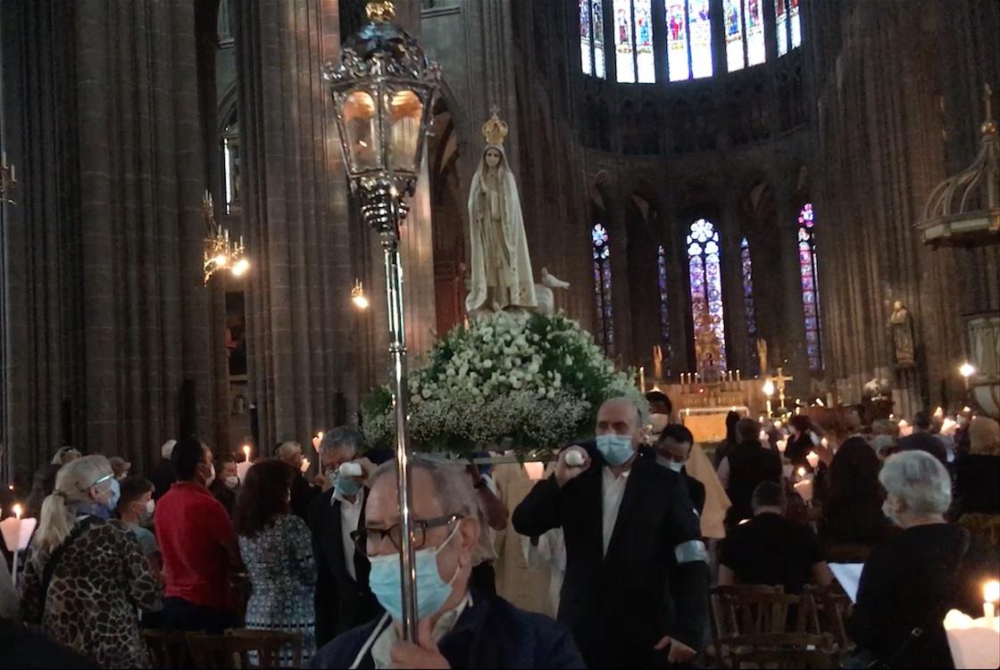Célébration en l'honneur de Notre-Dame de Fatima à la Cathédrale de Clermont le 8 mai 2021