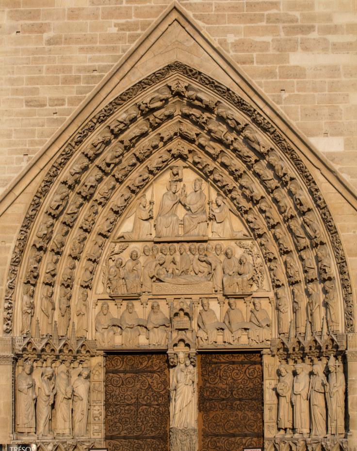 Notre Dame De Paris Histoire Des Arts : notre, paris, histoire, Portail, Vierge, Cathédrale, Notre-Dame, Paris
